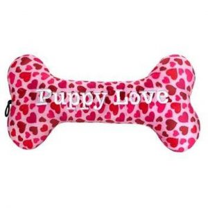 lulu belles puppy love bone - plush dog toy