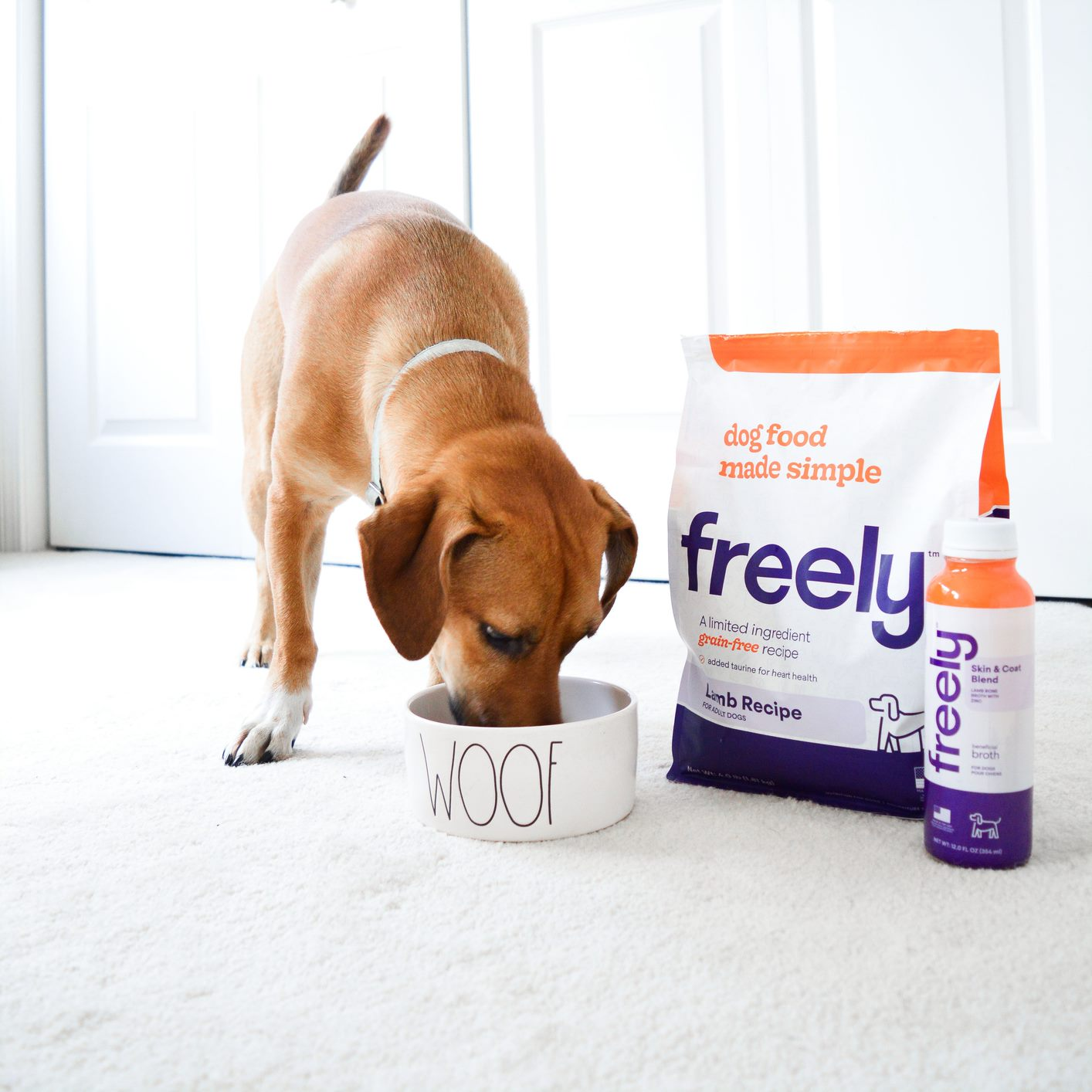 "Why Freely?<br><br>  <span style=""font-size: 22px; font-weight: 500;"">Freely is a team of pet-loving, pet food and nutrition experts committed to making pet food simple – simply good for your pet and simply easy to understand. Build a perfect bowl for your dog or cat with any combination of Freely recipes:<br><br><ul><li>Delicious Kibble</li><br><li>Mouth-Watering Wet Food</li><br><li>Beneficial Bone Broths</li></ul><br>   <em>""High quality food and thoughtfully balanced nutrition are important to the overall health of every pet.""</em> - Freely Veterinarian Dr. Sara Gilbert</span>"